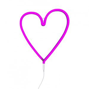 Wandlampe Herz (neon pink)