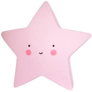 Dekolampe Stern pink