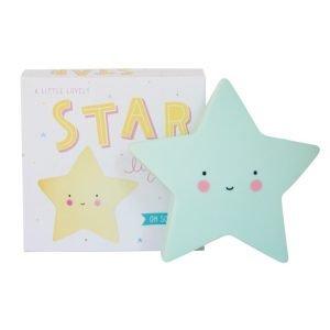 Dekolampe mini Stern (minzgrün)