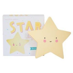 Dekolampe mini Stern (gelb)
