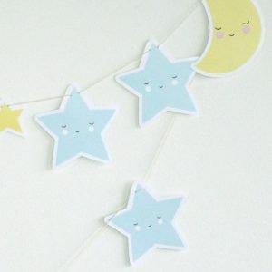 Girlande Mond und Sterne