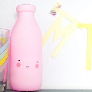 Dekolampe Milchflasche pink