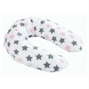 Still- und Lagerungskissen rosa Sterne