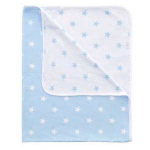 Kuscheldecke (blau Sterne)