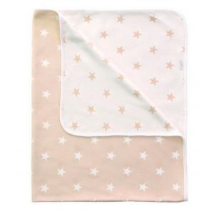 Kuscheldecke (beige Sterne)