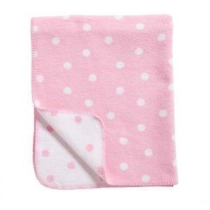 Schlafdecke Punkte rosa