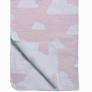 Schlafdecke Wolken rosa