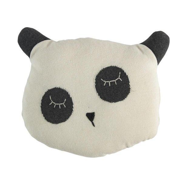 Gestrickte Kissen, Panda