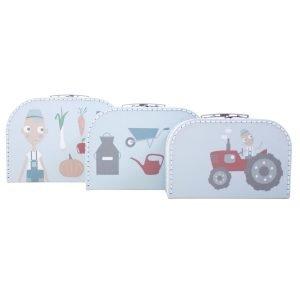 Kofferset 3 Stück, Farm (blau)