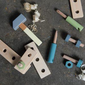 Bau-Spielset aus Holz