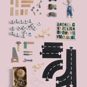 Buchstabenblöcke aus Holz, 16 Stk., Buchstaben