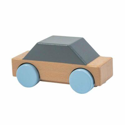 Wagen aus Holz, grau