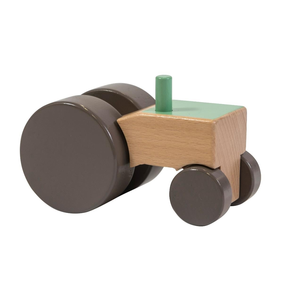 traktor aus holz gr n spielzeugtraktor aus holz von sebra. Black Bedroom Furniture Sets. Home Design Ideas