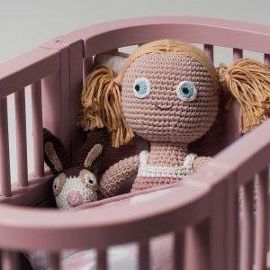 Puppenbett (altrosa)