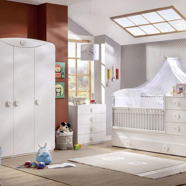 Babyzimmer babyzimmer komplett wei mit sofa und aus holz for Coole babyzimmer