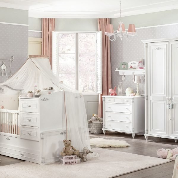 cilek romantic baby baby kinderzimmer set bei panda. Black Bedroom Furniture Sets. Home Design Ideas