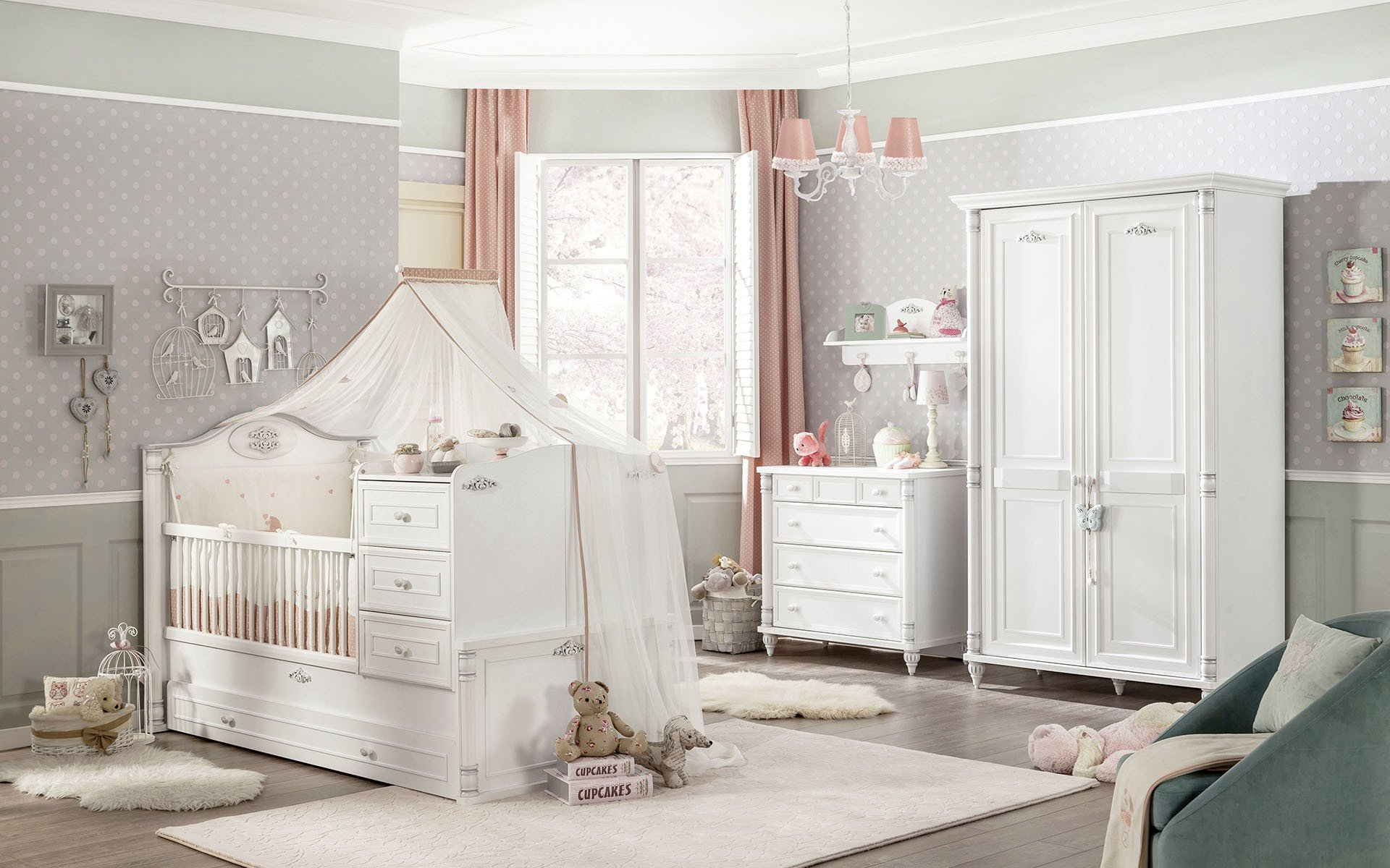 cilek romantic baby baby kinderzimmer set bei panda kinderm bel. Black Bedroom Furniture Sets. Home Design Ideas