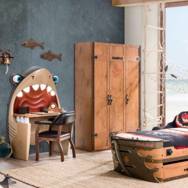Pirate zimmer set abenteuerlich cooles piratenzimmer - Piratenzimmer deko ...