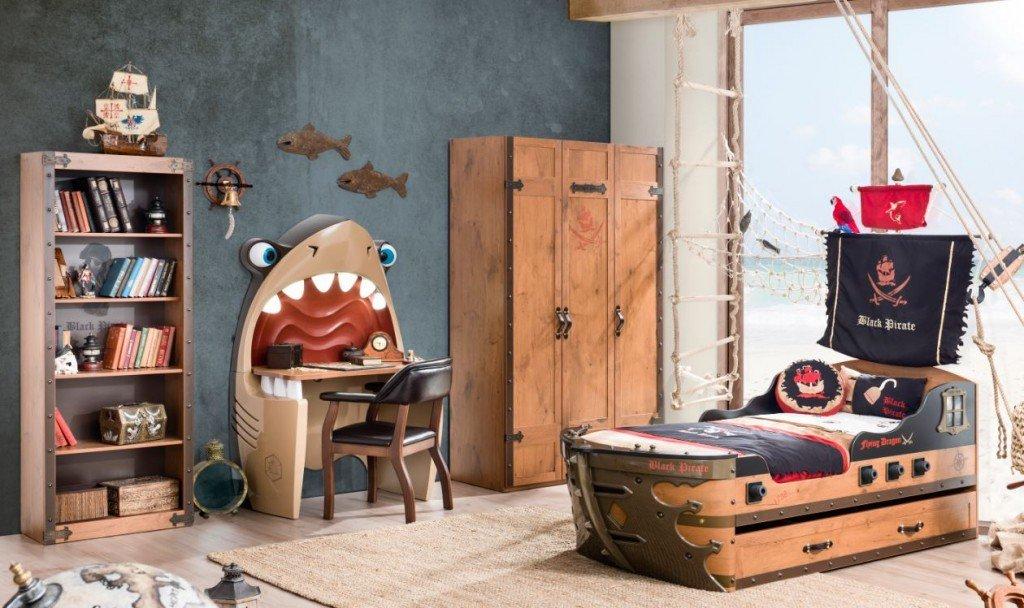 Pirate zimmer set abenteuerlich cooles piratenzimmer for Zimmer deko pirat