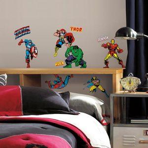 Roommates Wandsticker DISNEY Marvel Helden Comic