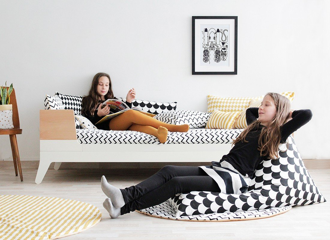 essaouira zigzag schwarz panda kinderm bel. Black Bedroom Furniture Sets. Home Design Ideas