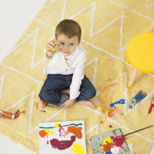 Lorena Canals Hippy Kinderteppich Gelb 3