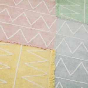 Lorena Canals Hippy Kinderteppich Gelb 4