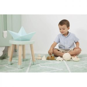 Lorena Canals Hippy Kinderteppich Soft Mint 3