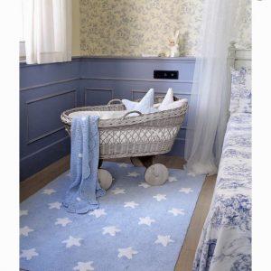 Lorena Canals Kinderteppich Blau Weiss 2