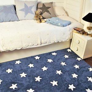 Lorena Canals Kinderteppich Navy Weiss 2