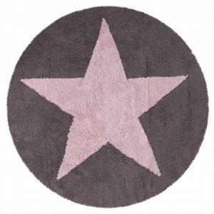 Lorena Canals waschbarer Kinderteppich Wendeteppich Star Pink