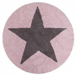 Lorena Canals waschbarer Kinderteppich Wendeteppich Star Pink 1