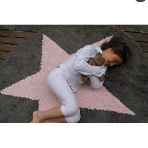 Lorena Canals waschbarer Kinderteppich Wendeteppich Star Pink 3