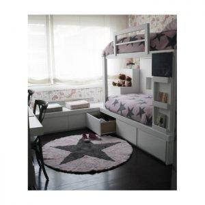 Lorena Canals waschbarer Kinderteppich Wendeteppich Star Pink 4