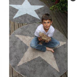 Lorena Canals Kinderteppich Wendeteppich Stars Blau Dunkelgrau 3