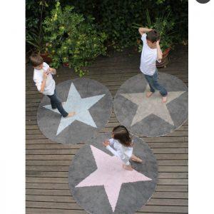 Lorena Canals Kinderteppich Wendeteppich Star Linen Dunkelgrau 4