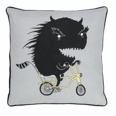 Bloomingville Kissen Monster auf Fahrrad