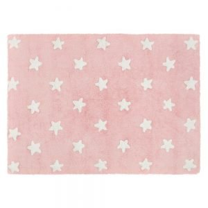 Lorena Canals Kinderteppich stars pink weiss