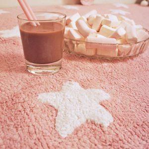 Lorena Canals Kinderteppich pink stars 1