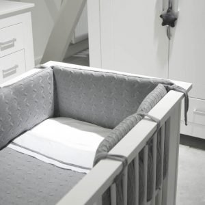 Baby`s only Bettbezug 100x135cm cable weiss grau