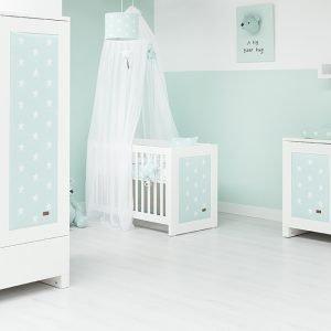 Baby`s only Betthimmel weissmintgrün 2