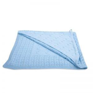 Kapuzenbadetuch Cable Baby Blau