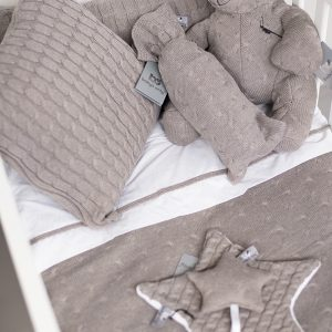 Baby`s only Kuscheltuch cable taupe 1