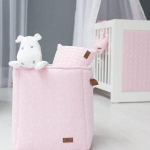 Baby`s only Nilpferd und Korb cable weiss und rosa