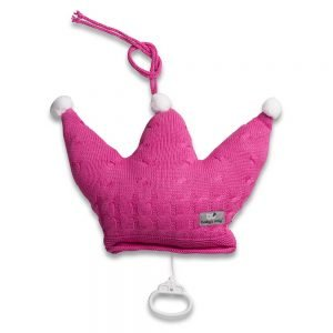 Baby`s only Spieluhr Krone cable fuchsia