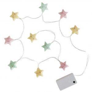 Lichterkette Sterne Pastell