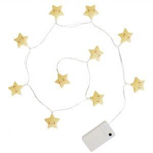 Lichterkette Sterne Gelb