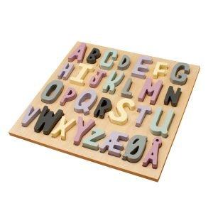 Alphabetpuzzle rosa