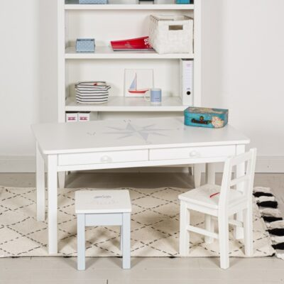 Schreibtisch Windrose Blau