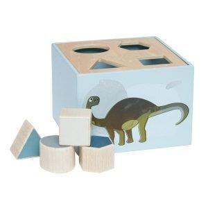 Formensteckspiel aus Holz Dino